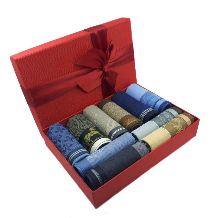 Носовые платки в подарочной упаковке(10 штук)