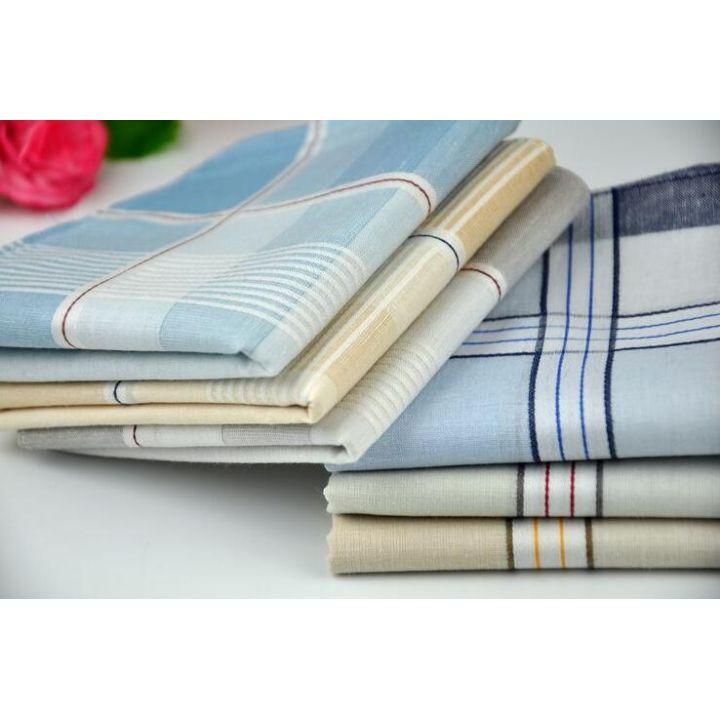 Мужские носовые платки 45430F светлые цвета 12 штук в упаковке